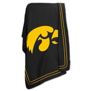 Iowa Hawkeyes Logo Chair NCAA Classic Fleece Blanket