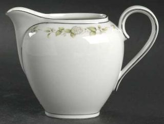 Franconia   Krautheim Cindy Creamer, Fine China Dinnerware   White Flowers,Green