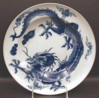 Mottahedeh Blue Dragon (Brown Trim) Large Rim Soup Bowl, Fine China Dinnerware