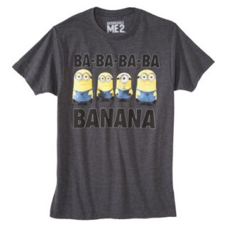 Despicable Me Minions Mens Graphic Tee   Charcoal XXL