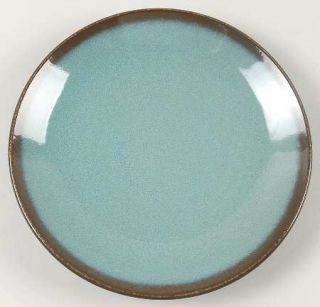 Home Trends Lagoon Salad Plate, Fine China Dinnerware   Turquoise,Brown Edge,Cou