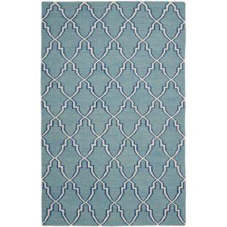 Safavieh Dhurries Light Blue/Ivory Rug DHU564B Rug Size: 26 x 4