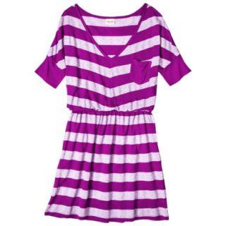 Mossimo Supply Co. Juniors V Neck Elbow Sleeve Dress   Violet S(3 5)