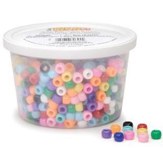 Tub o beads Opaque Pony Beads 7 Ounces multi Color