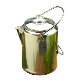 Texsport Aluminum 9 Cup Percolator (SilverDimensions: 8.5 inches high x 5.75 inches wide x 5.75 inches deep Weight: 1.20Care instructions: Wash with soap and water9 cup aluminum percolator coffee pot, aluminum inside tube and basketAnodized handles )