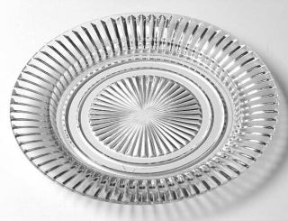 Anchor Hocking Queen Mary Clear Salad Plate   Clear, Depression Glass