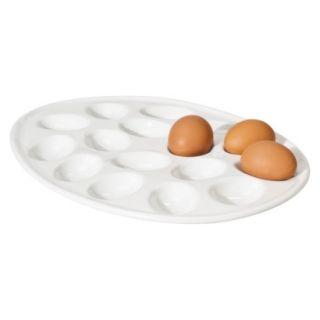 Threshold Ceramic Egg platter   White