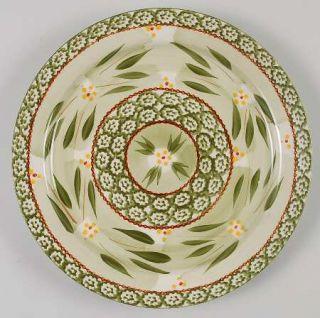 Temp Tations Old World Green Dinner Plate, Fine China Dinnerware   Green Sponge