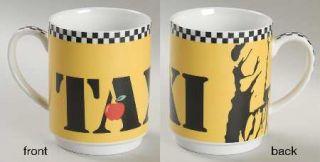 Studio Nova New York Taxi Mug, Fine China Dinnerware   Ny City Motif,Black&White