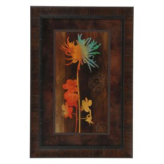 Crestview Collection Multi   Colored Flower Framed Wall Art   25.5W x 37.5H in.
