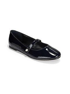 Ralph Lauren Girls Alyssa Patent Leather Mary Janes   Navy