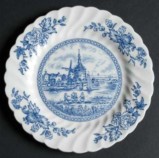 Johnson Brothers Tulip Time Blue (White Background) Bread & Butter Plate, Fine C