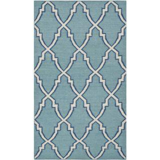 Safavieh Dhurries Light Blue/Ivory Rug DHU564B Rug Size: 3 x 5
