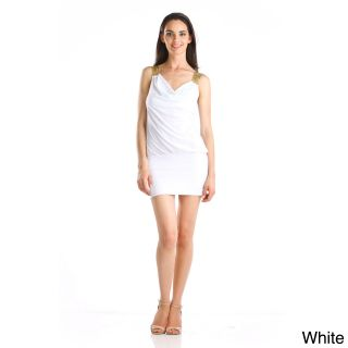 Stanzino Womens Gold Strap Mini Dress