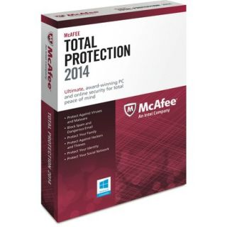 McAfee Total Protection 2014   Three User (PC Software)