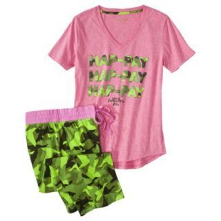 Duck Dynasty Juniors 2 Pc Pajama Set   Pink Print S