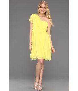 Donna Morgan Blaire Sweetheart Multi Directional Bustier w/ Skirt Panels Womens Dress (Yellow)