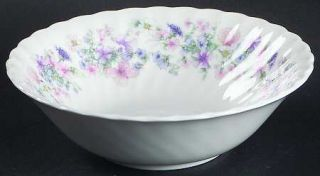 Wedgwood Angela Coupe Cereal Bowl, Fine China Dinnerware   Pastel Flowers, Swirl