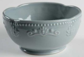 Jaclyn Smith Scalloped Floral Blue Soup/Cereal Bowl, Fine China Dinnerware   Tra