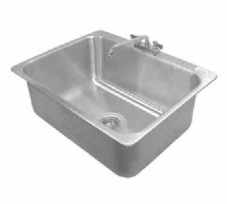Advance Tabco Drop In Sink   (1) 28x20x12 Bowl, Deck Mount Swing Spout, 16 ga 304 Stainless