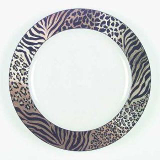 Studio Nova Jungle Beat Dinner Plate, Fine China Dinnerware   Leopard&Tiger Prin