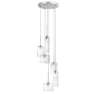 Dainolite DAI IC 106P PC Industrial Chic 6 Light Round Pendant