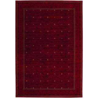 Everest Gridiron/ Crimson Rug (710 X 112) (CrimsonSecondary colors: Black, rose rud, sage, sahara tanPattern: GeometricTip: We recommend the use of a non skid pad to keep the rug in place on smooth surfaces.All rug sizes are approximate. Due to the differ