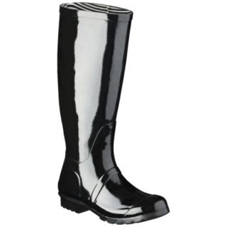 Womens Classic Knee High Rain Boot   Black 6
