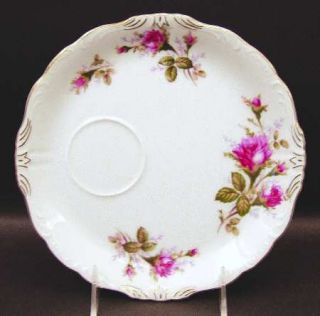 Royal Sealy Moss Rose Snack Plate, Fine China Dinnerware   White Background,Pink