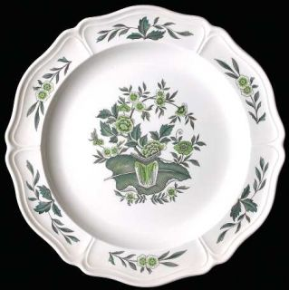 Wedgwood Green Leaf (QueenS Shape) 12 Chop Plate/Round Platter, Fine China Din