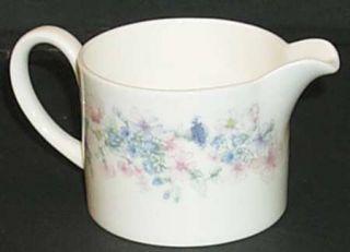 Wedgwood Angela Mini Creamer, Fine China Dinnerware   Pastel Flowers, Smooth, Co