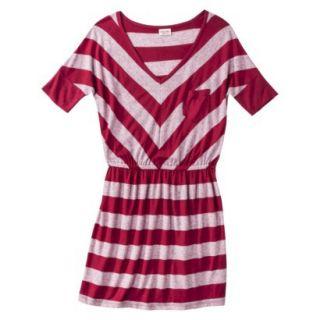 Mossimo Supply Co. Juniors V Neck Dress   Cranberry Zing S(3 5)