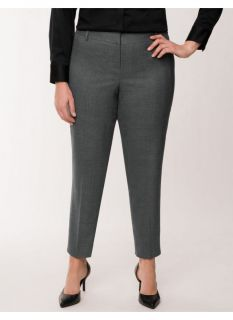 Lane Bryant Plus Size Lena Tailored Stretch muted plaid ankle pant     Womens
