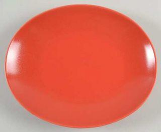 Lindt Stymeist Rso Brights Red (Oval) Salad Plate, Fine China Dinnerware   Rso B