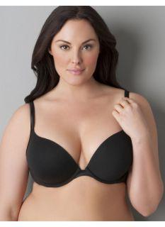 Lane Bryant Plus Size Cotton boost plunge bra     Womens Size 36DD, Black