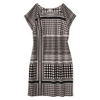 Merona Womens Crepe Shift Dress   Cream/Black   XL