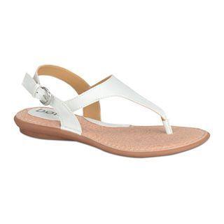 BOLO Kanika T Strap Sandals, White, Womens