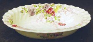Spode Fairy Dell (Swirled) 9 Oval Vegetable Bowl, Fine China Dinnerware   Multi