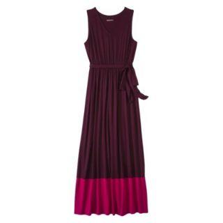 Merona Womens Knit Colorblock Maxi Dress   Berry/Pink   XL