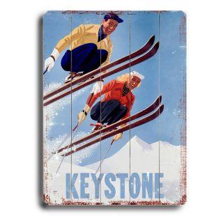Artehouse 14 x 20 in. Keystone Jumpers Wood Sign Multicolor   0003 0356 KS