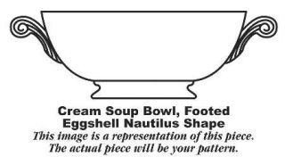 Homer Laughlin  Ferndale Footed Cream Soup Bowl, Fine China Dinnerware   Egg. Na