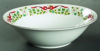 Domestications Twelve Days Of Christmas 9 Round Vegetable Bowl, Fine China Dinn