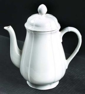 Villeroy & Boch Chambord (White,Fine China,Germany) Coffee Pot & Lid, Fine China