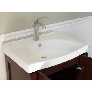 Bellaterra Home 24W x 18.5D in. Vitreous China Integral Sink Vanity Top
