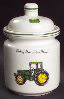 Gibson Designs John Deere (Tractor) Small Canister, Fine China Dinnerware   Gree