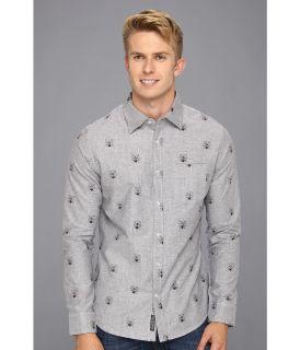 Ecko Unltd Hell Bent Allover L/S Woven Mens Long Sleeve Button Up (Gray)
