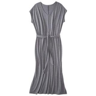 Merona Womens Plus Size Short Sleeve V Neck Maxi Dress   Gray 4