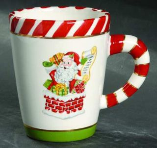 Christopher Radko Letters To Santa Mug, Fine China Dinnerware   Santa,Sleigh,Tre