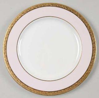 Mary Kay Mak1 Salad Plate, Fine China Dinnerware   Gold Encrusted Band,Pink Rim