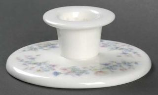 Wedgwood Angela Single Light Candlestick, Fine China Dinnerware   Pastel Flowers